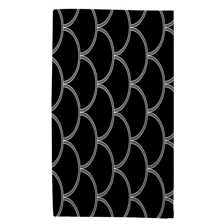 Art Deco Circles Black And White Rug (4 x 6) - 4 x 6 (4 x 6 - White)