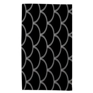 Thumbprintz Art Deco Circles Black And White Rug (4' x 6')
