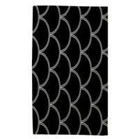 Art Deco Circles Black And White Rug - 4' x 6'