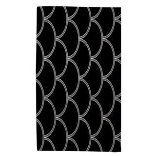Art Deco Circles Black And White Rug (4' x 6') - 4' x 6'