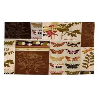 Thumbprintz Botanical Collage Rug (4' x 6')