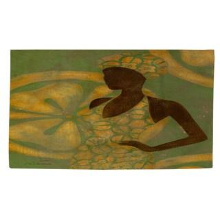 Thumbprintz Ebony Art Green Rug (4' x 6')