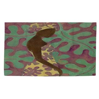 Thumbprintz Ebony Art Purple Rug (4' x 6')