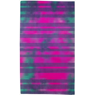 Stripes Pink Turquoise Rug (4' x 6')