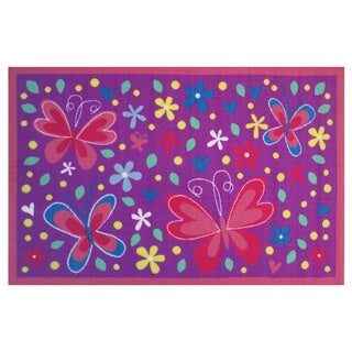 Butterfly Valley Purple Accent Rug (3'3 x 4'8)