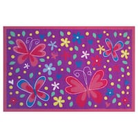 Butterfly Valley Purple Accent Rug