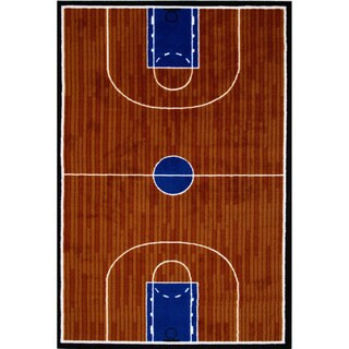 Basketball Court Accent Rug (3'3 x 4'8)
