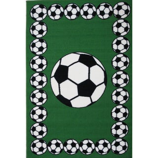 "Soccer Time Green Accent Rug - 3'3"" x 4'8"""