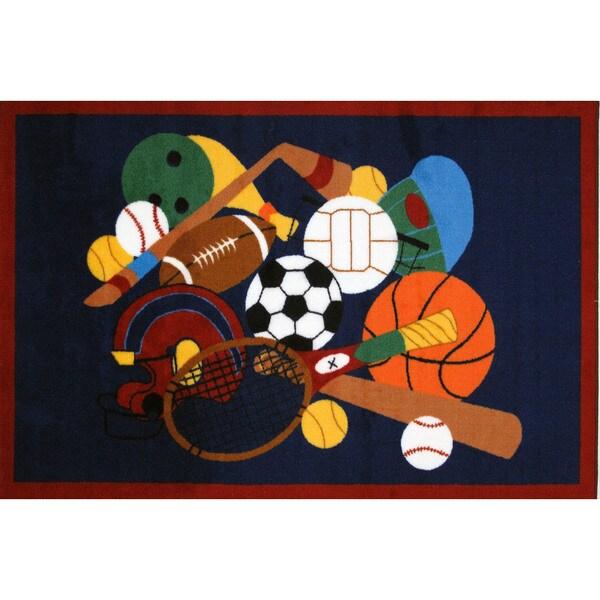 Shop Sports America Blue Accent Rug