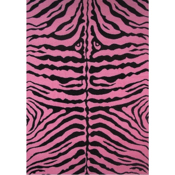 Shop Zebra Pink Accent Rug