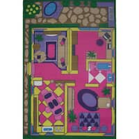 Dollhouse Multi-colored Accent Rug (4'3 x 6'5)