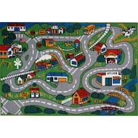 Country Fun Green Accent Rug - 8' x 11'
