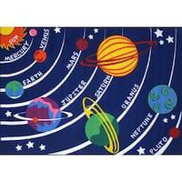 Solar System Blue Area Rug - 5'3 x 7'6