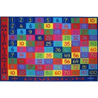 Multiplication and Division Area Rug - Multi - 5'3 x 7'6