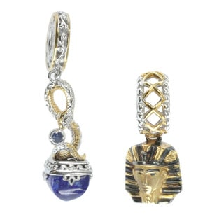 Michael Valitutti Palladium Silver 'Egyptian' Charm Set