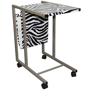Zebra Laptop Cart