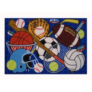 Let's Play Sports Accent Area Rug (1'6 x 2'4)