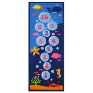Underwater Hopscotch Blue Accent Rug - 1'6 x 2'4
