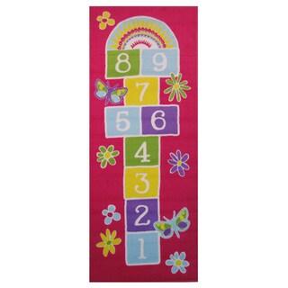 """Garden Hopscotch Pink Accent Rug - 1'6"""" x 2'4"""""""