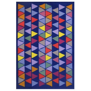 Pyramid Party Blue Accent Rug (1'6 x 2'4)