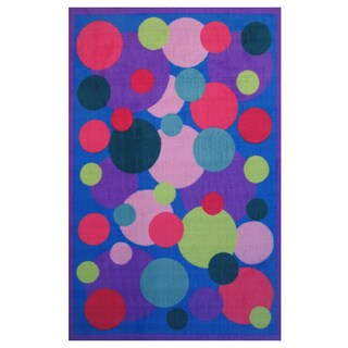 Popping Bubbles Blue Accent Rug - 1'6 x 2'4