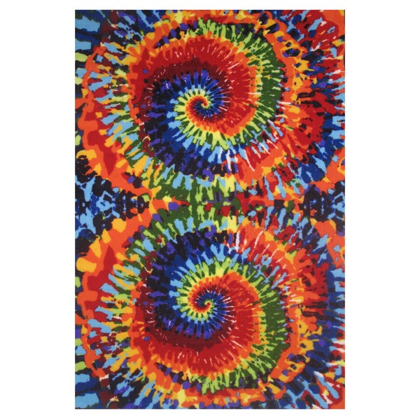 Shop Tie Dye Multi Colored Accent Rug 1 6 X 2 4 Free