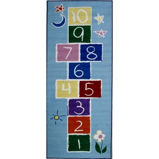 Primary Hopscotch Blue Accent Rug