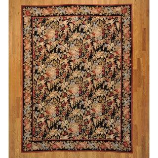 Hand-stitched 100-percent Wool Flat Weave Rug (7'6 x 10')