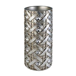 13.5-inch Silver Dazzle Decorative Vase