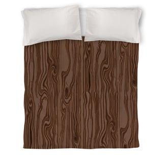 Wood Grain Large Scale Brown Duvet Cover