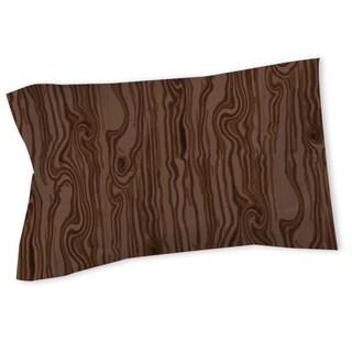 Wood Grain Large Scale Brown Sham (As Is Item)