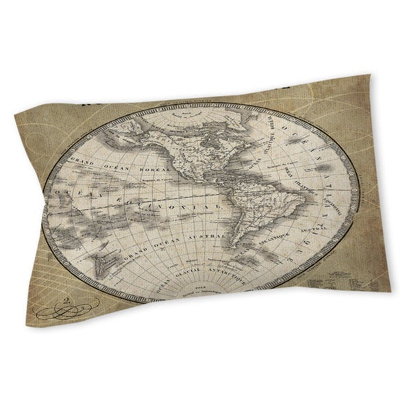 French World Map III Sham