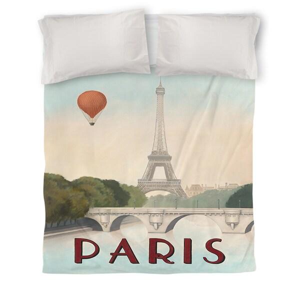City Skyline Paris Duvet Cover
