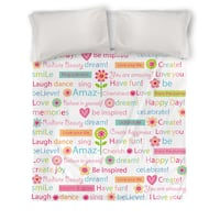 Happy Day Words Duvet Cover