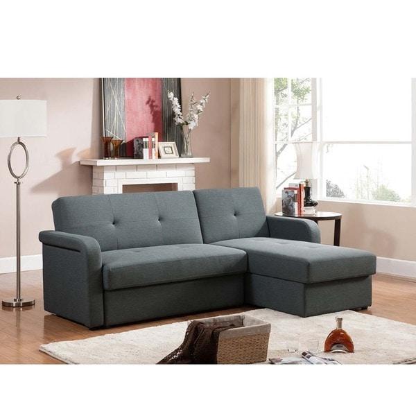 Sectional Sofa Grey Baxton Studio