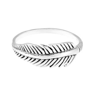 Handmade Sterling Silver Tribal Feather Ring (Thailand)