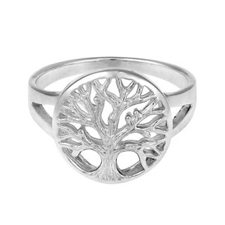 Tranquil Tree of Life Emblem .925 Sterling Silver Ring (Thailand)