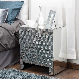 Coyle Mirrored Two-Drawer Cabinet by Christopher Knight Home