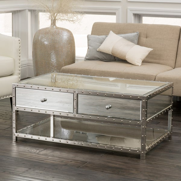 Knight Home Jade Mirrored Coffee Table 16750635 Overstock