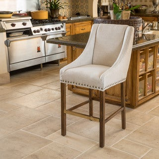 James 30-inch Fabric Bar Stool by Christopher Knight Home