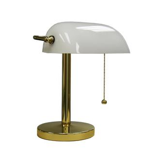 12.5-inch White Bankers 1-light Lamp