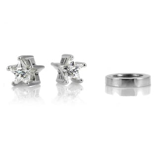 Star Cubic Zirconia Non-pierced Magnetic Earrings