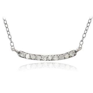 DB Designs Sterling Silver 1/10ct TDW Diamond Bar Necklace