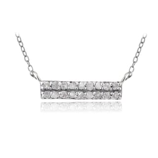 DB Designs Sterling Silver 1/5ct TDW Diamond Bar Necklace (I-J, I2-I3)