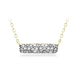 DB Designs Gold Over Silver 1/10ct TDW Diamond Bar Necklace (I-J, I2-I3)