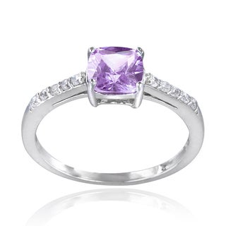 Glitzy Rocks Sterling Silver Gemstone Solitaire Ring