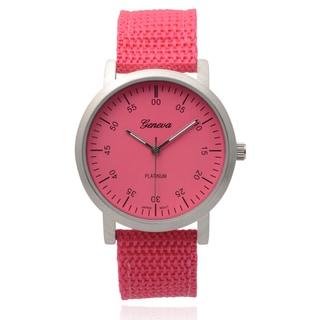 Geneva Platinum Women's Pink Round Dial Quartz Watch