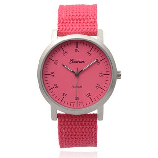 Geneva Platinum Women's Pink Round Dial Quartz Watch