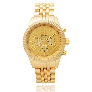 Geneva Platinum Women's SW-4783 Round Dial Quartz Goldtone Link Watch