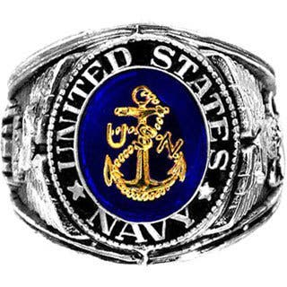 Silvertone Official US Navy Deluxe Engraved Ring|https://ak1.ostkcdn.com/images/products/9565249/P16750705.jpg?impolicy=medium